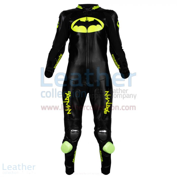 Batman Motorcycle Racing Leathers front view