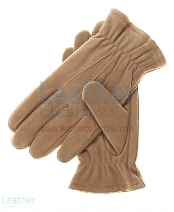 Beige Winter Thinsulate Lined Gloves