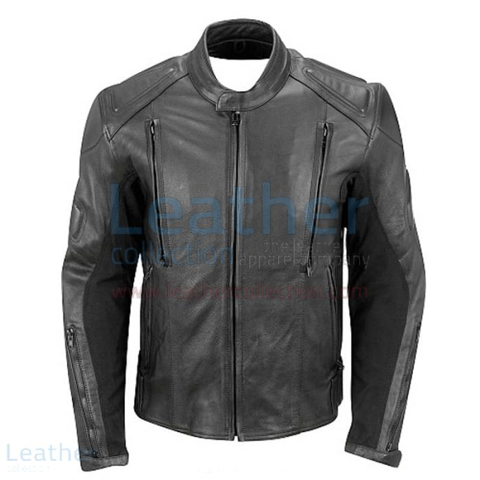 Big and Tall Biker Jacket front view