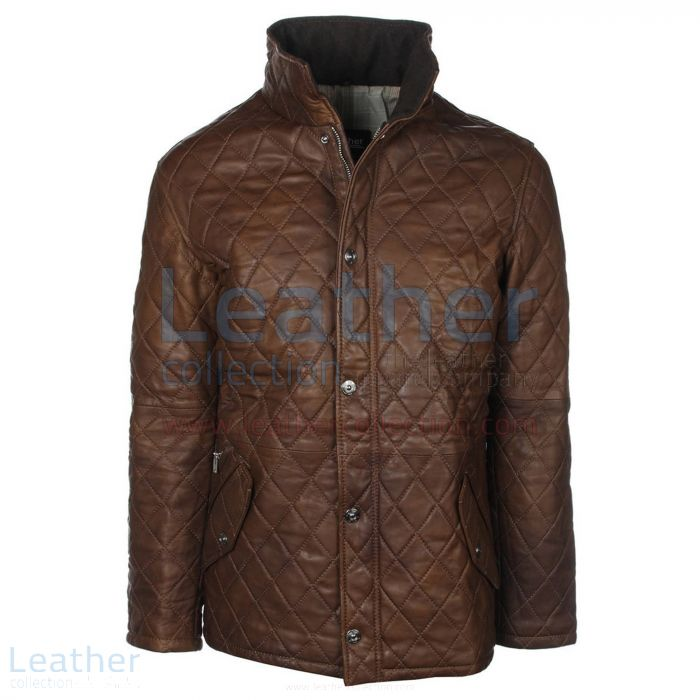 Brown Leather Jacket Front View