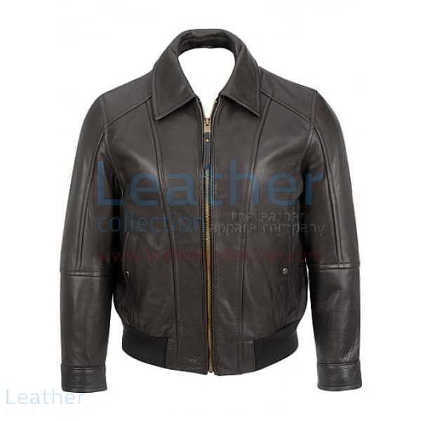 Black Bomber Jacket front view