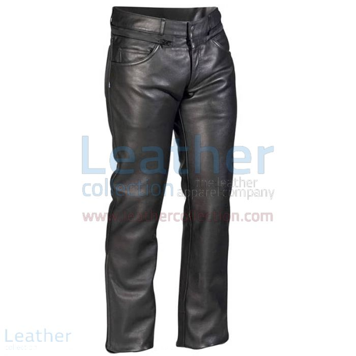 Classic Leather Pants front view