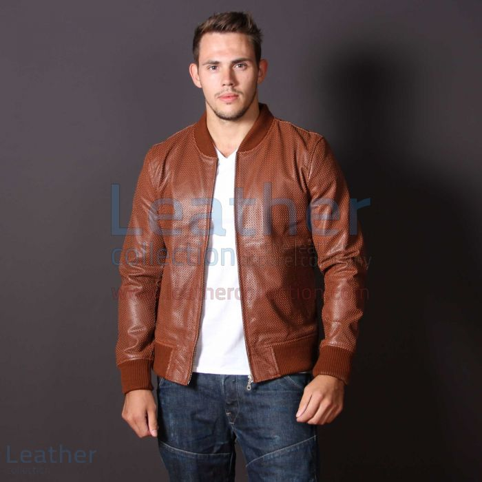 Brown Leather Jacket Mens Fashion