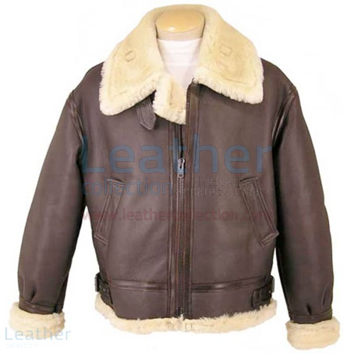Fur Lined Leather Jacket front view