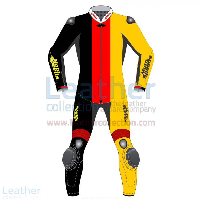 Germany Vertical Flag Motorcycle Suit front view