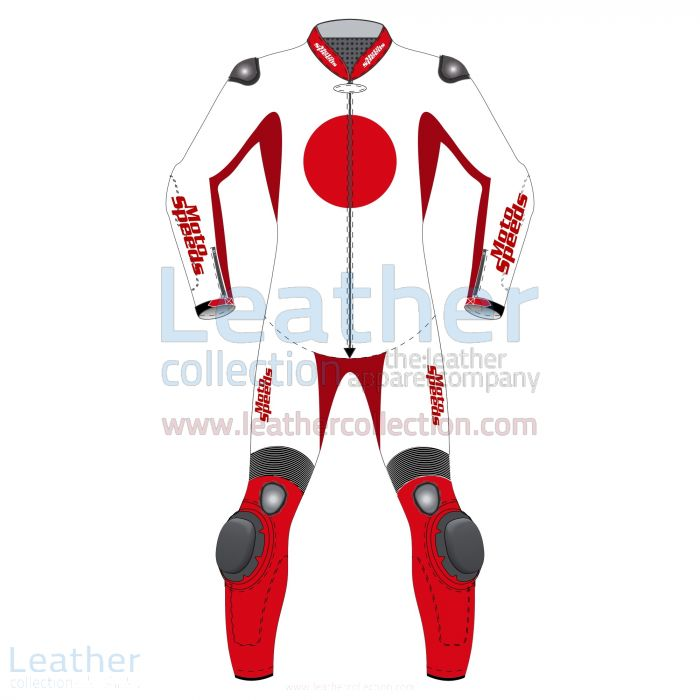 Japan Flag Motorbike Suit front view