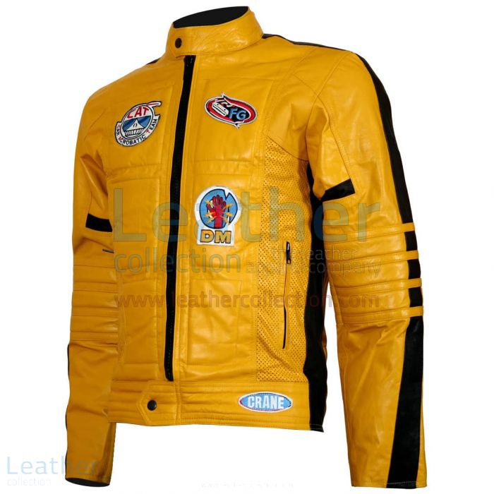 Kill Bill Movie Women Leather Jacket front view