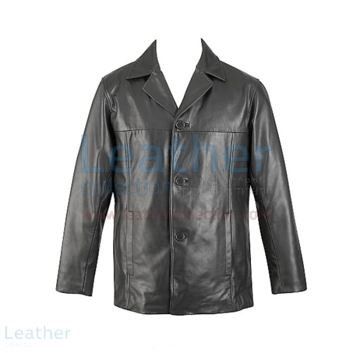 Lamb Leather Zip Out Thinsulate Liner Jacket front view