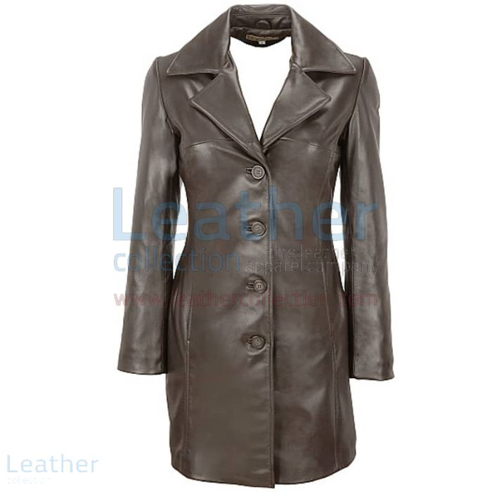 Lamb Trench Coat with Thinsulate Lining front view