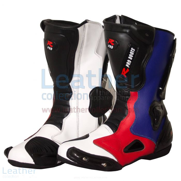 Leon Haslam BMW Motorcycle Boots side view