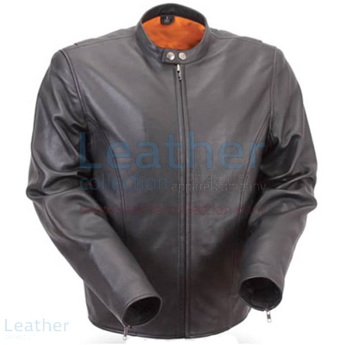 Lightweight Summer Leather Motorcycle Jacket front view
