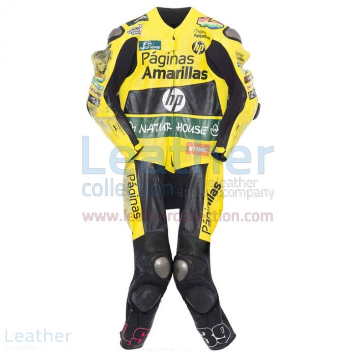 Luis Salom 2014 Motorcycle Leathers front view