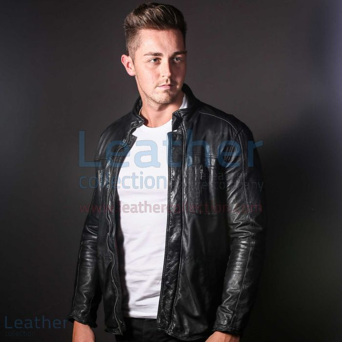 Men Fashion Ice Leather jacket front