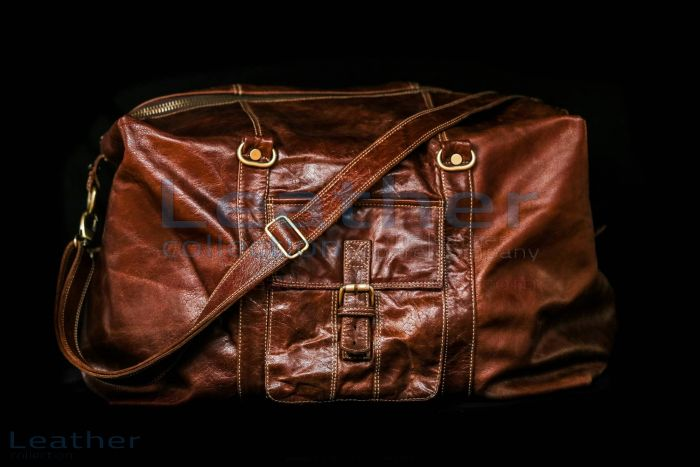 Rome Leather Luggage Bag front view