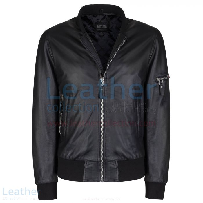 Sage Bomber Jacket front view