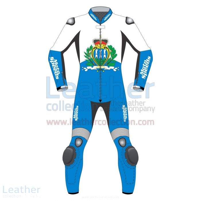 San Marino Flag Motorcycle Leathers front view