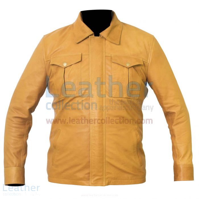 Camel Color Jacket Front View