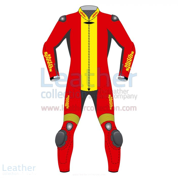 Spain Flag Moto Race Suit front view
