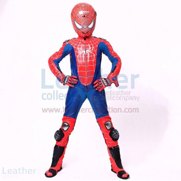 Spiderman 3 Riding Leathers front view