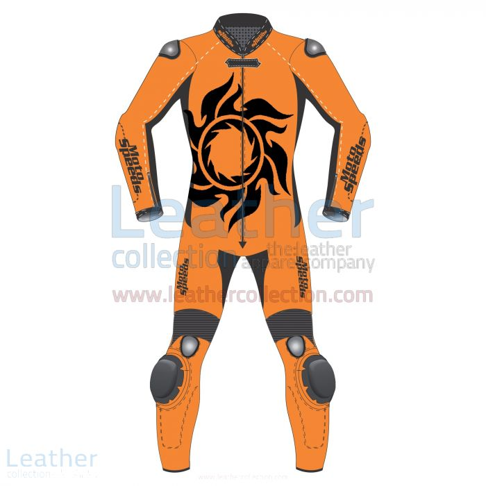 Tattoo Leather Motorcycle Suit front view