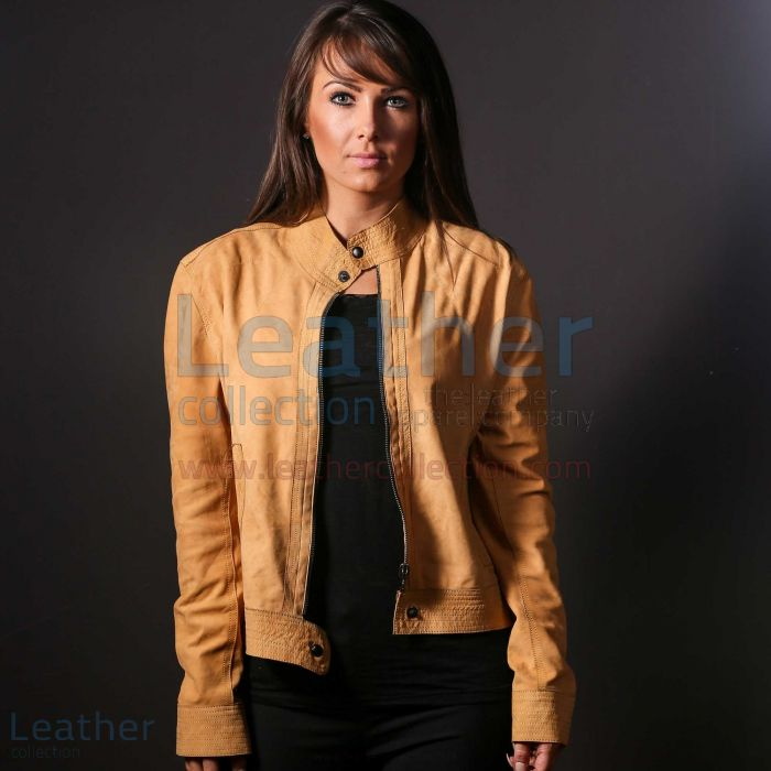 Vivo Women Leather jacket front view