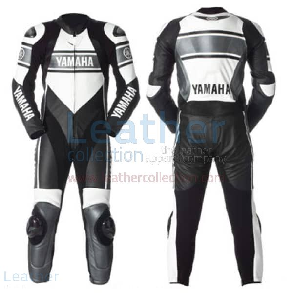 Yamaha Motorbike Racing Leather Suit front and back view
