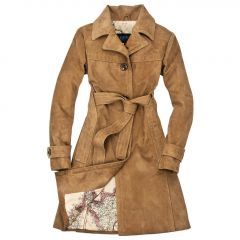 Amelia Earhart's Leather Trench Coat Ladies front view