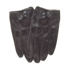 Brown Leather Fashion Driving Gloves upper view
