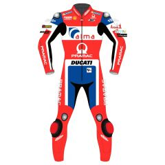 Danilo Petrucci Ducati MotoGP 2018 Leather Suit front view