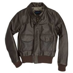Flight Leather Bomber Jacket For Women front view