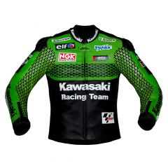 Kawasaki Racing Team Leather Jacket front view