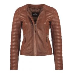 Ladies Legacy Leather Jacket Brown front