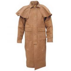 Men's Brown Duster Coat front view