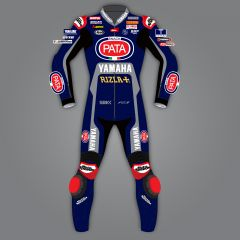 Michael van der Mark Yamaha Riding Leathers WSBK 2020 front view