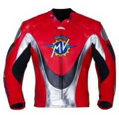 MV Agusta Racing Leather Jacket  front view