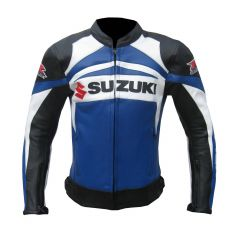 Suzuki GSXR Leather Jacket front view