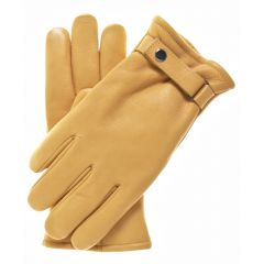 Tan Tough Leather Gloves Upper View