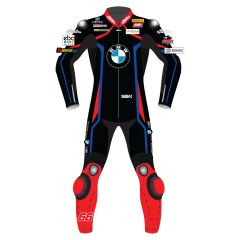 Tom Sykes BMW Motorrad Leathers Black WSBK 2019 front view