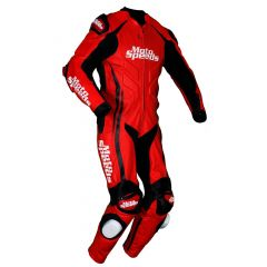 Tyro Leather Motorcycle Suit side front view