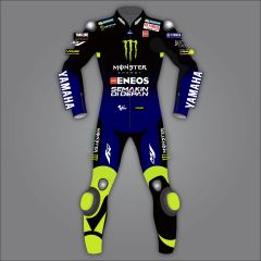 Valentino Rossi Yamaha Monster Leathers MotoGP 2020 front view