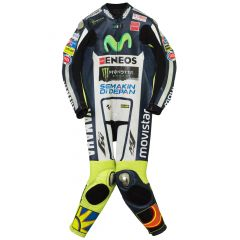 Valentino Rossi Movistar Yamaha MotoGP 2015 Suit front view