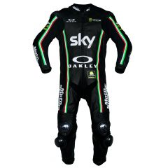 VR46 Riders Academy Sky Team 2017 Race Suit front