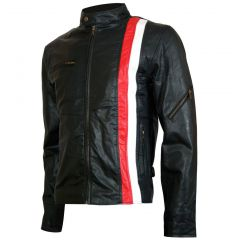 X-Men Cyclops Biker Style Leather Jacket front view