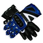 Bravo Motorcycle Gloves Blue upper view