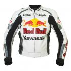 Kawasaki Ninja Red Bull Motorbike Leather Jacket front view