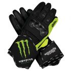 Monster Motorbike Leather Race Gloves