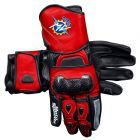 MV Agusta 2017 Leather Motorcycle Gloves upper view