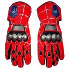 Spiderman Leather Motorbike Race Gloves upper view