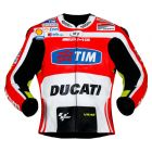 Valentino Rossi Ducati 2011 Leather Jacket front view